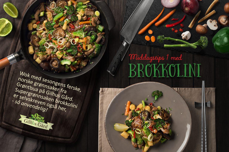 Asiatisk wok med brokkolini