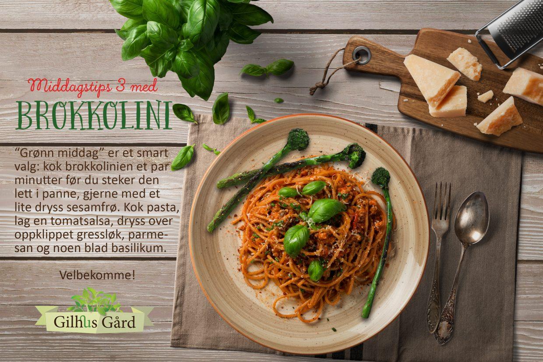 Godt tilbehør til grønn middag: brokkolini selvsagt!